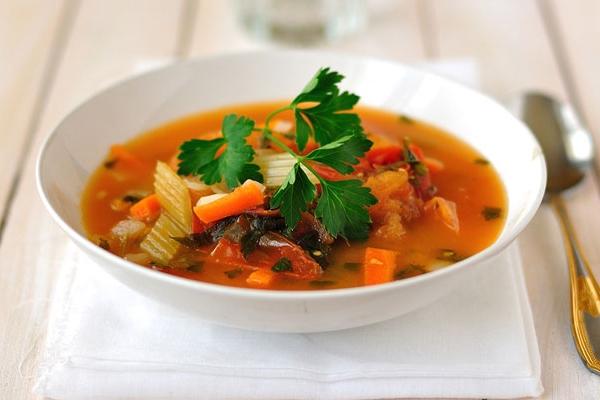 Суп с сельдереем и томатами