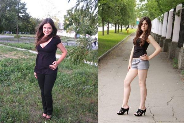 До и после офигенной диеты