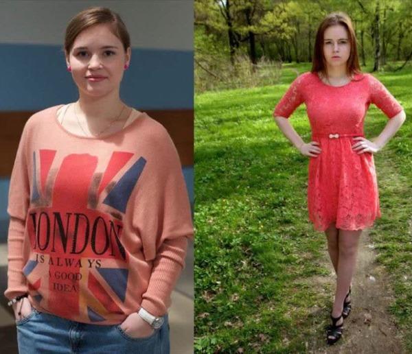До и после диеты Блюдечко