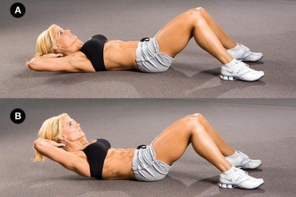 Качаем пресс, чтобы подтянуть мышцы живота и откорректировать бока