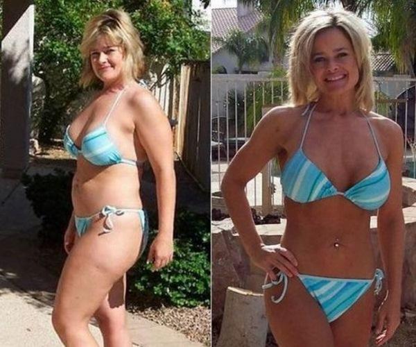 После месяца диеты 5 ложек