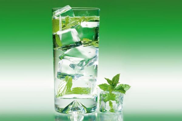 Вода с мятой